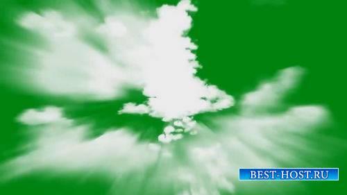 Футаж на хромакее - Полет сквозь облака