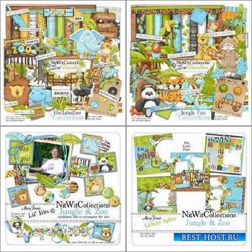 Детский скрап-набор - Hullaba зоопарк и веселые джунгли