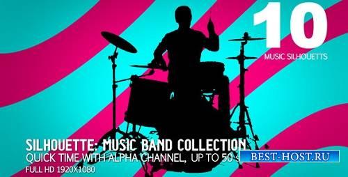 Музыкальная группа Коллекция 10 (силуэты) 714857 - Motion графика
