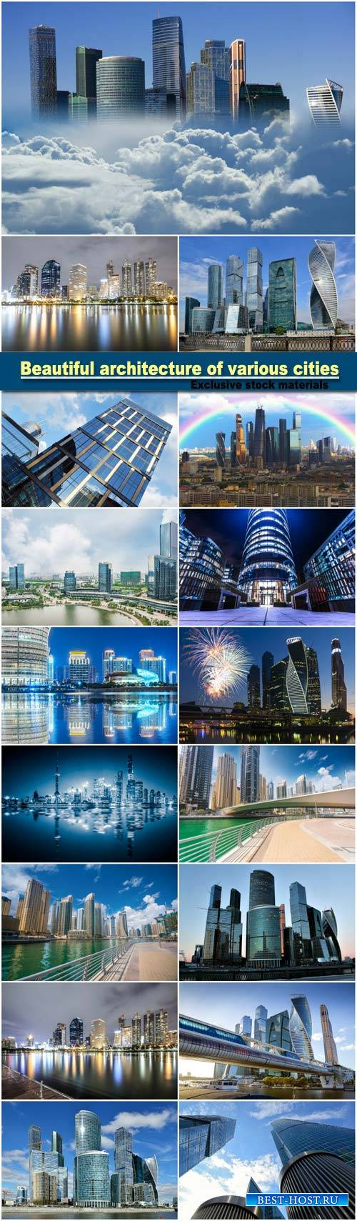 Beautiful architecture of various cities
