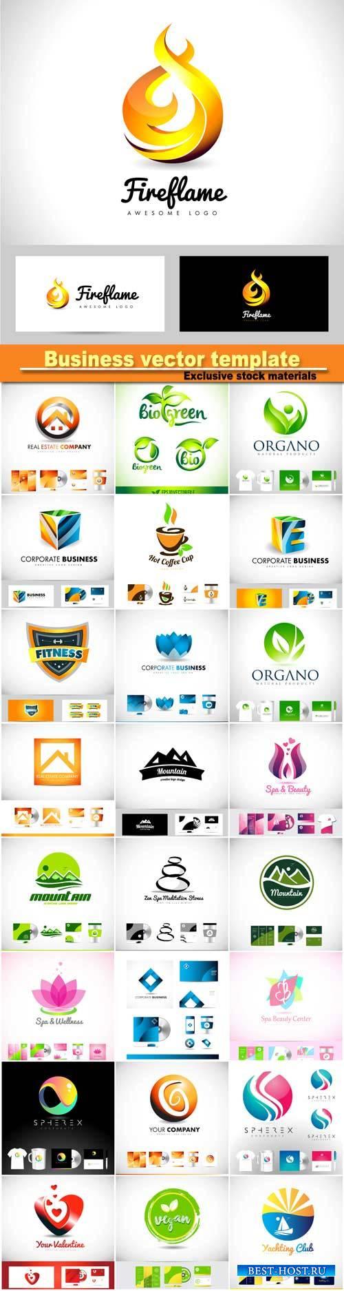 Vector logo icon, design template corporate identity