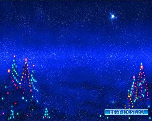 Футажи новогодние - Ночь перед Новым годом