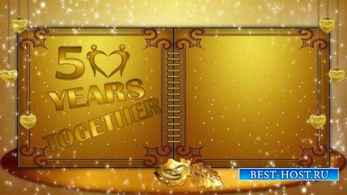 Футаж золотой 50 лет вместе