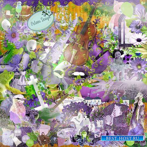 Романтический скрап-набор - Фиолетовый сюрприз