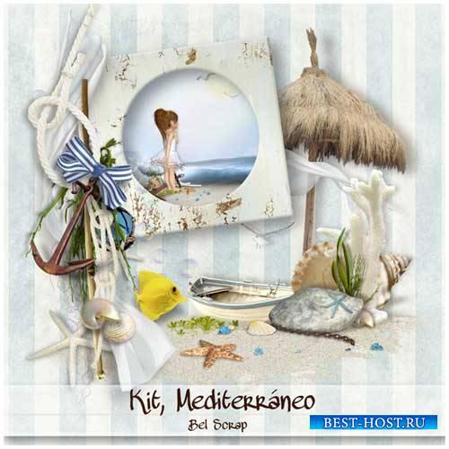 Морской скрап-набор - Mediterraneo