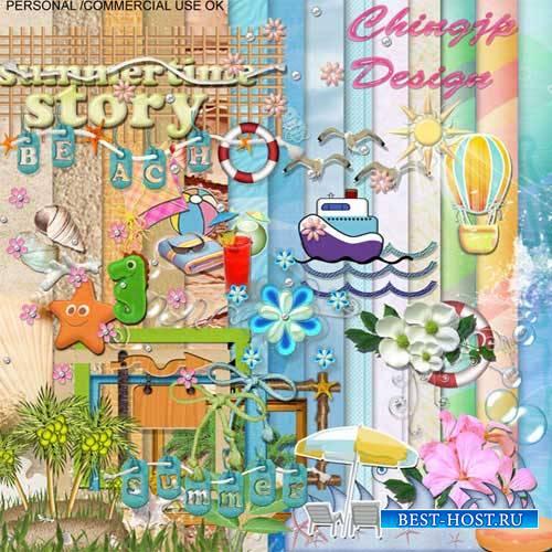 Детский скрап-набор - Летняя история