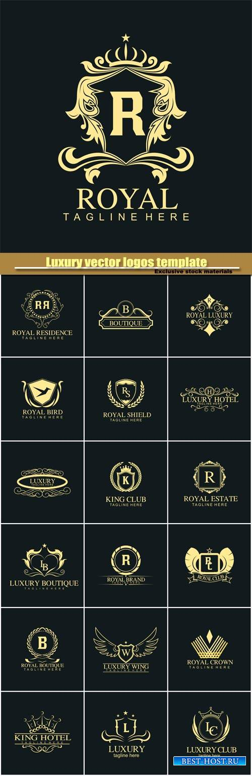 Luxury vector logos template
