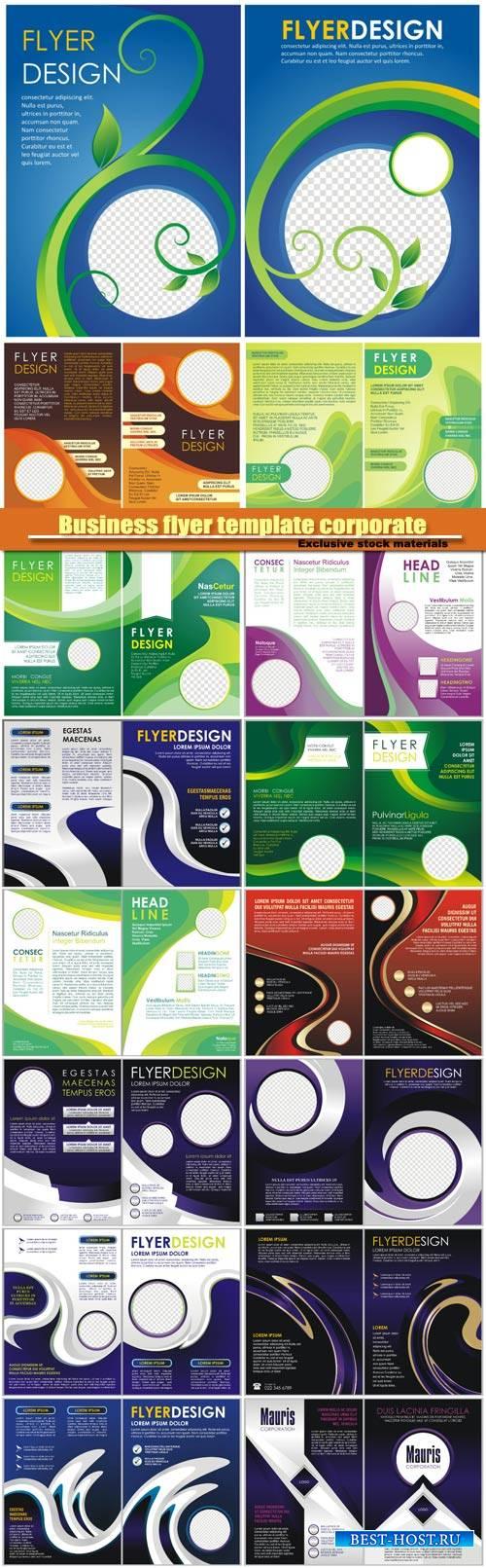 Business flyer template corporate design