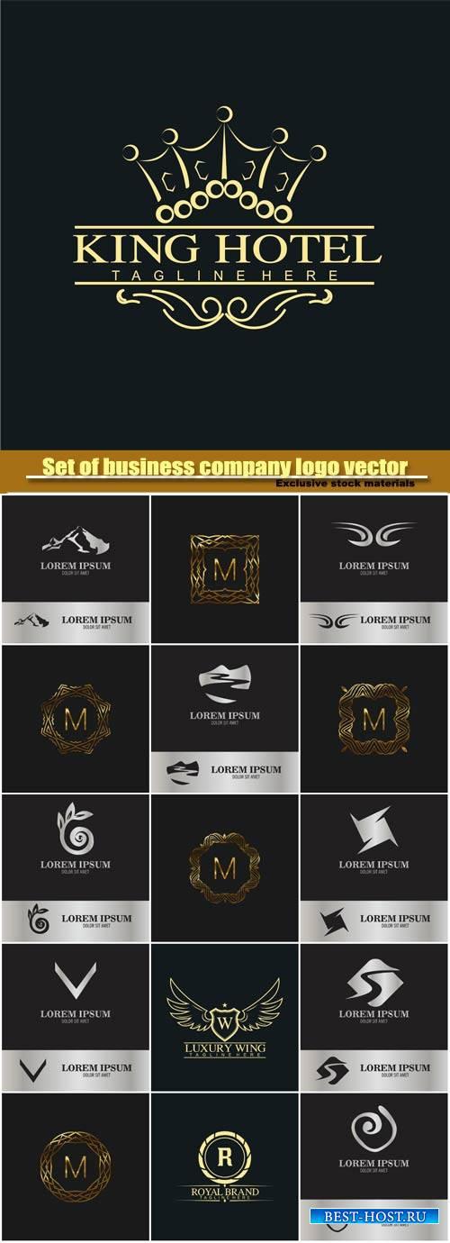 Vector monogram  and business company logo