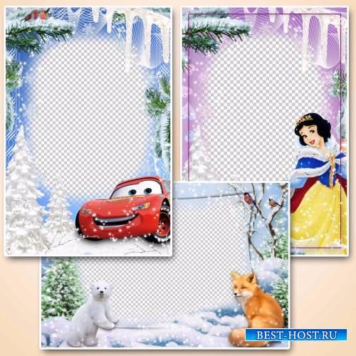 Детские рамки для фото – Зимние развлечения