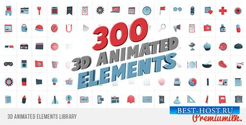 3D анимированные элементы библиотеки - Project for After Effects (Videohive ...