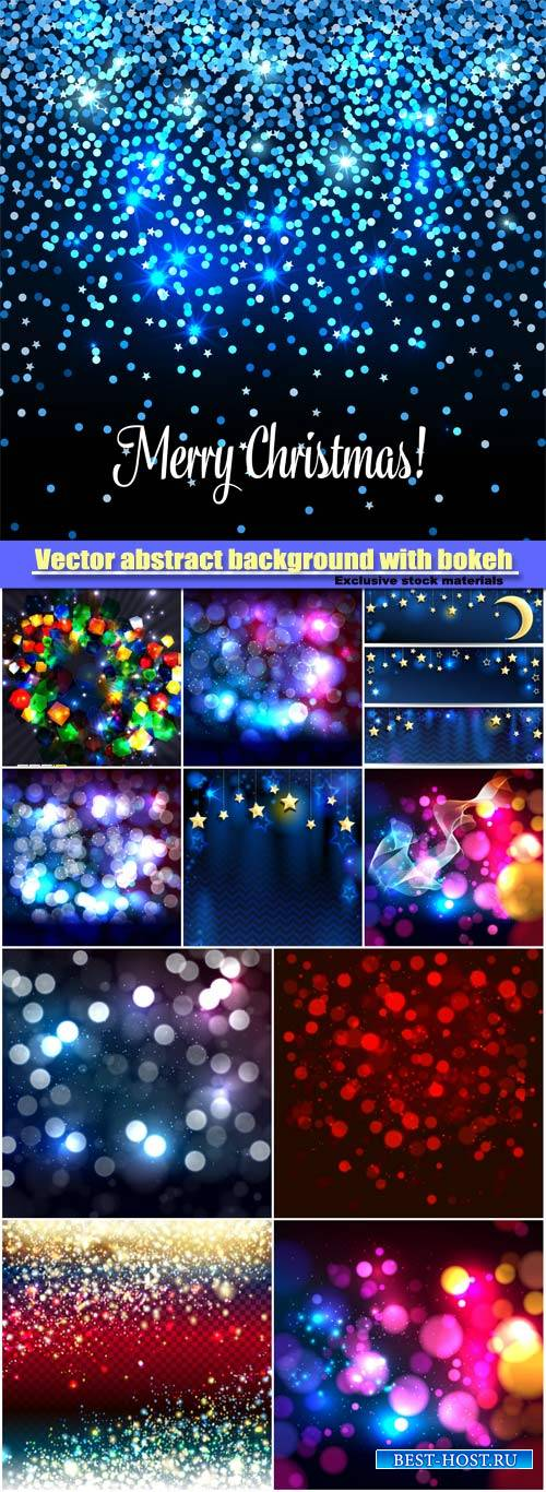 Vector abstract background with bokeh defocused lights