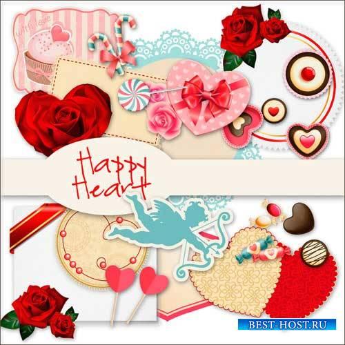 Романтический скрап-набор - Счастливые сердца