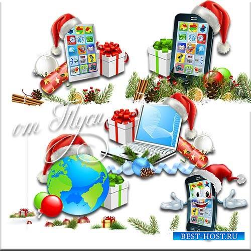 Новогоднее очарование – мечты ожидание - Клипарт