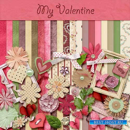 Цветочный скрап-набор - Моя валентинка
