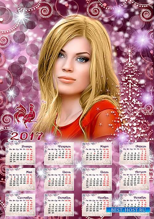 Красочный календарь на 2017год
