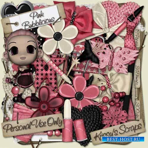 Детский гламурный скрап-набор - Pink Bubblicious