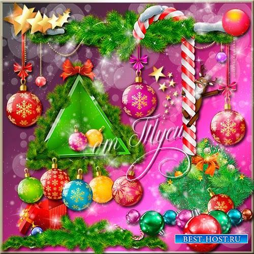 Клипарт - Новогодней ночи очарование