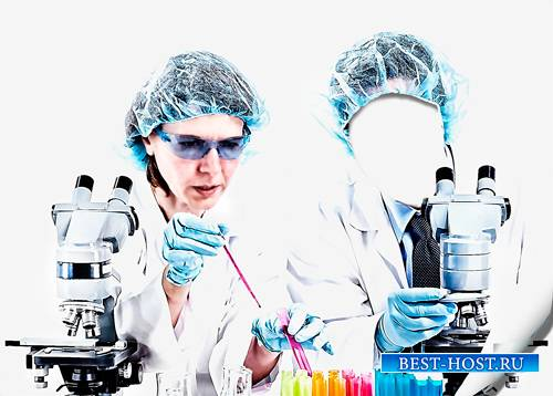 Шаблон - Ученые в лаборатории
