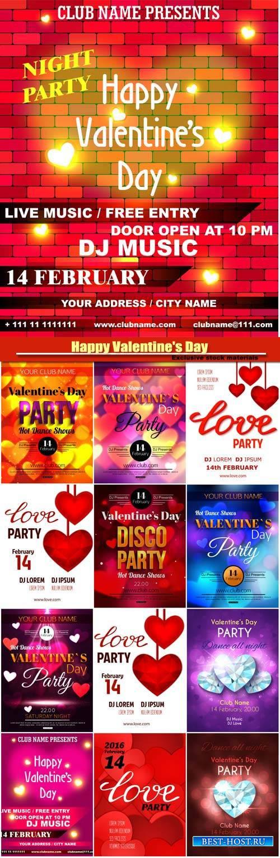 Happy Valentine's Day vector, hearts, romance, love #20