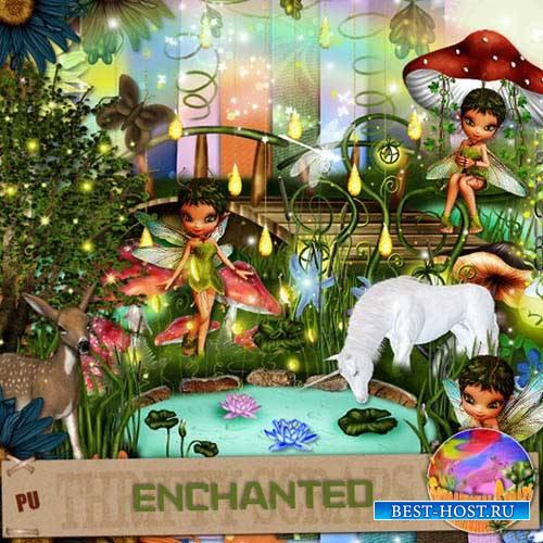 Детский сказочный скрап-набор - Зачарованная