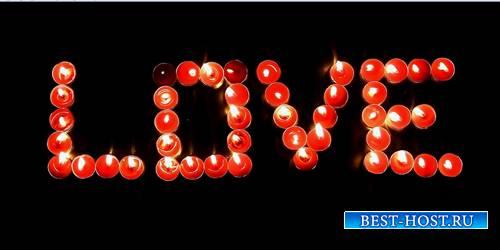 Романтический футаж - Любовь в пламени свечи