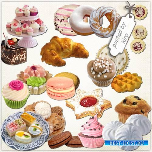 Клипарт - Выпечка, пирожные, печенье в png