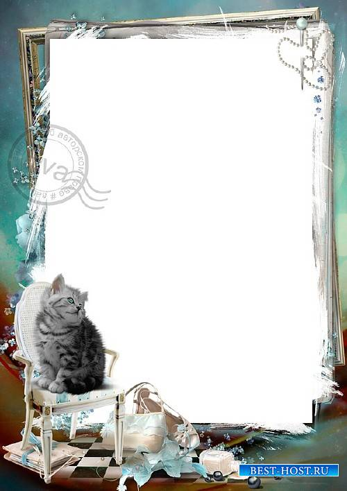 Рамка для фотографий - Голубоглазый котенок