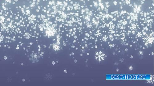 Зимний фоновый футаж - Тихо падает снежок