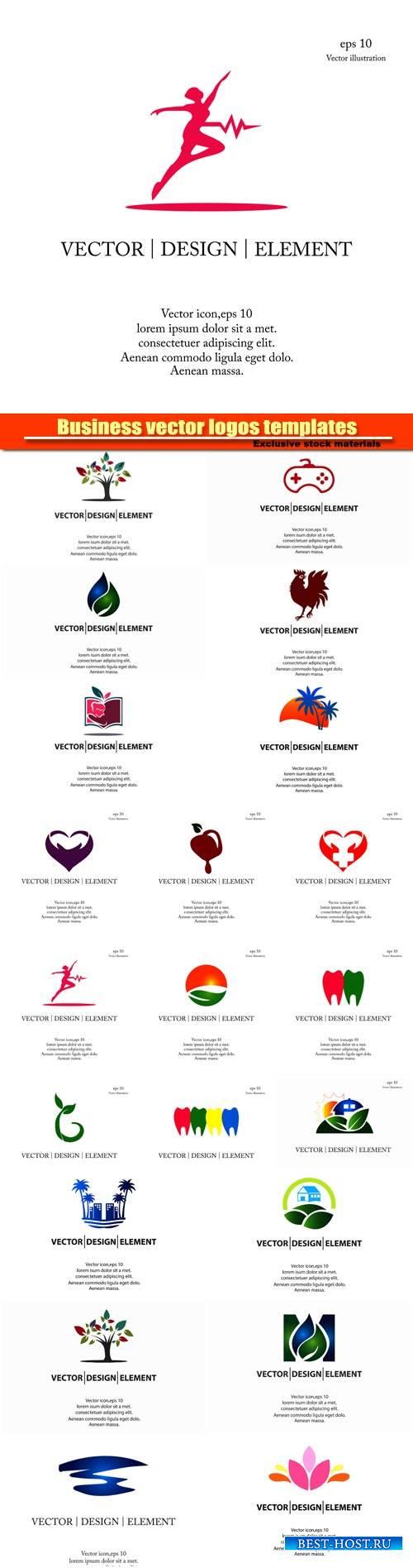 Business vector logos templates