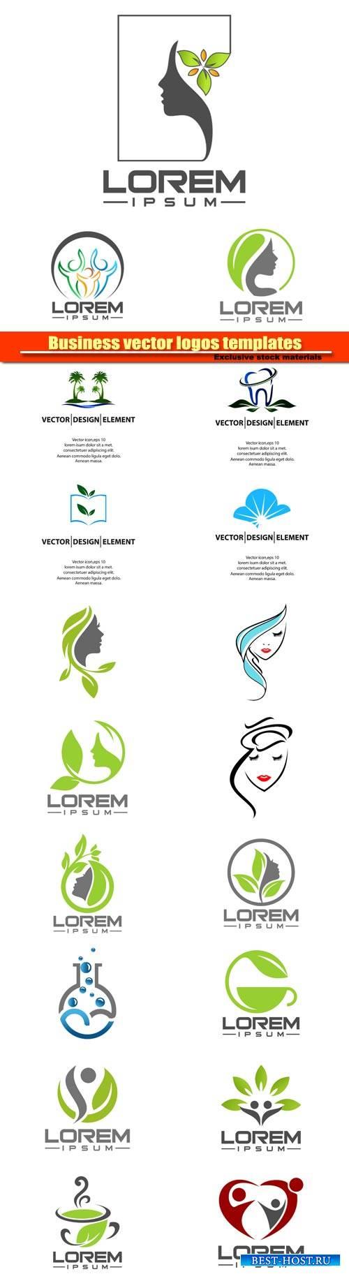 Business vector logos templates №10