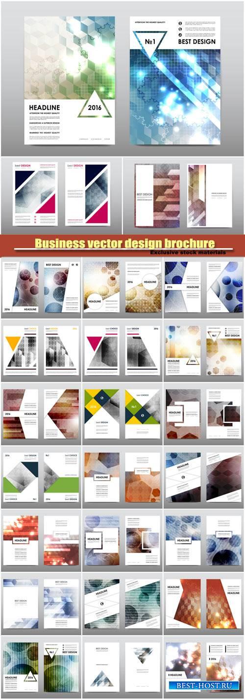 Business vector design brochure, flyer template, design card creative