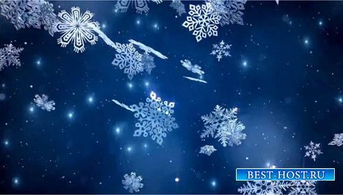 Зимний фоновый футаж - Снежная ночь