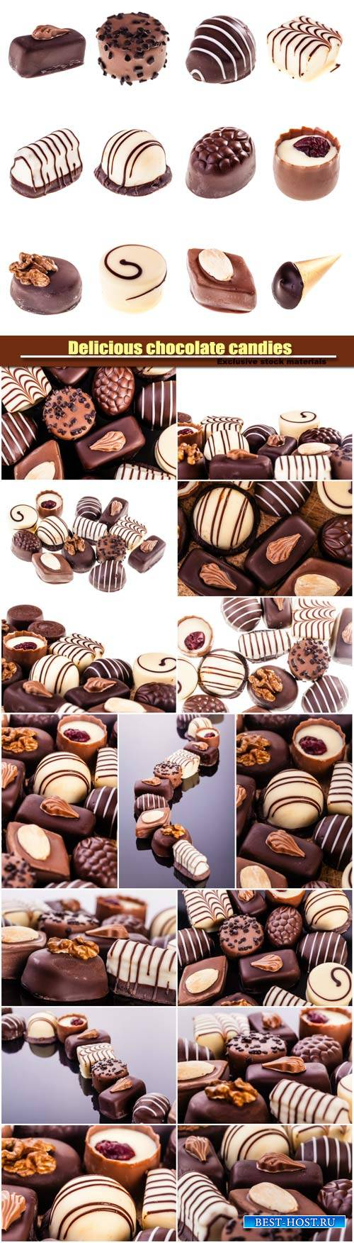 Delicious chocolate candies