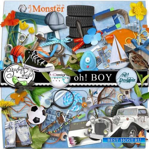 Детский скрап-набор для мальчиков - Ох!Мальчишка
