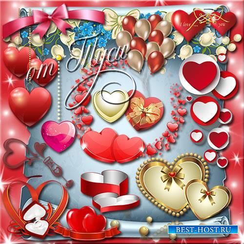 Клипарт - Много в мире влюблённых сердец