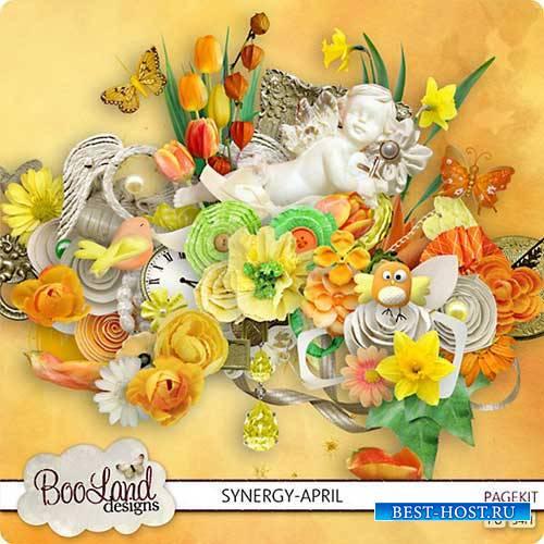 Цветочный скрап-набор - Synergy April