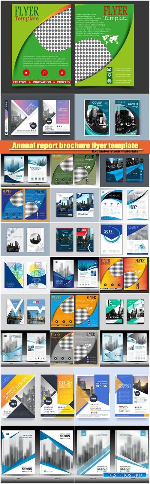 Annual report brochure flyer template, cover design, business company profi ...