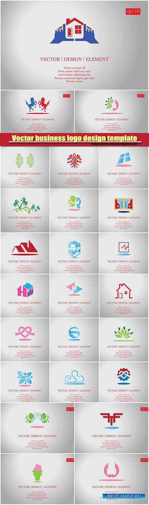 Vector business company logo design