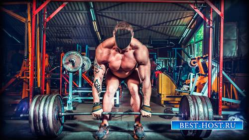 Фотошаблон для фото - Супер атлет в спортзале