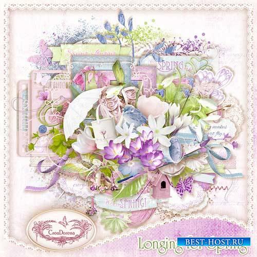 Весенний скрап-набор - Тоска по весне