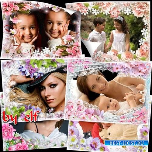 Рамки для фотошопа - Весна в окно стучится