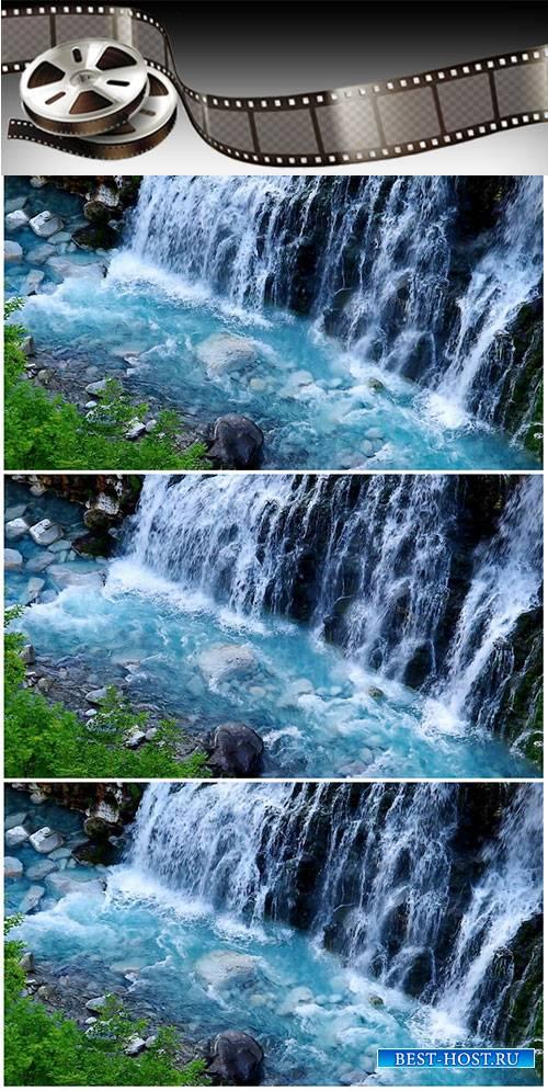 Video footage Waterfall basin in Japan