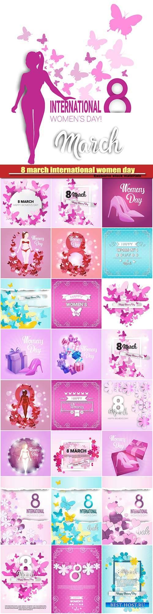8 march international women day background