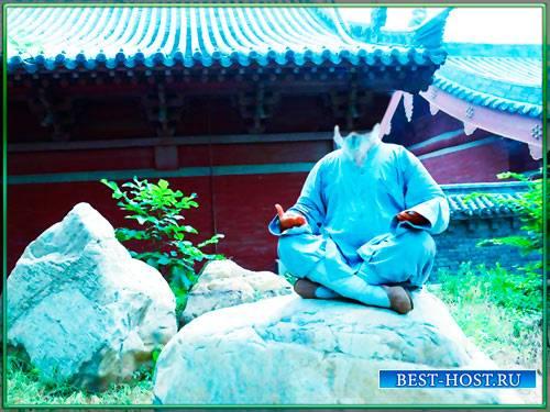 Шаблон для фотомонтажа - Мастер кунг фу