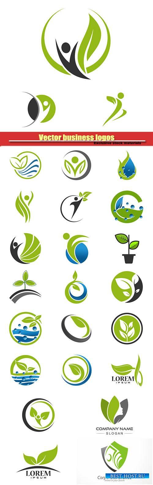 Vector business logos