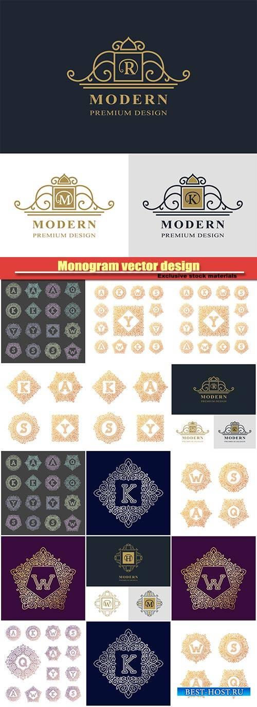 Monogram vector design, luxury logo