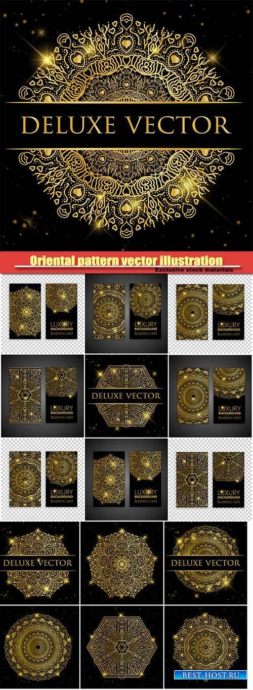 Oriental pattern vector illustration, Islam, Arabic Indian turkish motifs