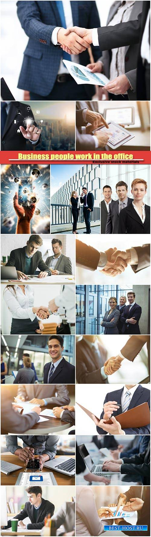 Business people work in the office