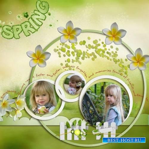 Цветочный скрап-набор - Цветущий сад